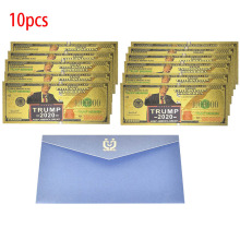 10pcs/Lot 1 Million Dollar Gold Foil Banknote The president Trump 1000000 USD