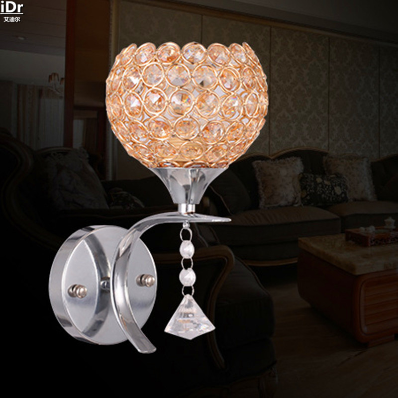 European LED crystal lamp minimalist living room bedroom creative bedside lighting aisle Wall Lamps  Rmy-0283 modern k9 crystal wall lamp american wall lamps bedroom bedside aisle led european lighting new chinese led bracket light