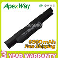 Apexway 6600mAh battery for Asus A32-K53 A42-K53 K53 K53B K53E K53F K53J K53S K53SJ K53SV K53T K53U A43 A53 K43 X43 X44 X54 X84