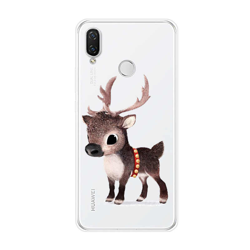 Untuk Huawei Nova 2i 3E 2 Lite PLUS Soft TPU Silikon Cute Cat Dicat Kembali Menutupi untuk Huawei nova Smart Lite 2017 Case