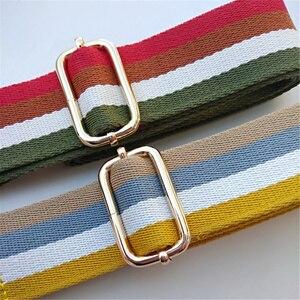 Image 5 - Neue Tasche Ersatz Schulter Strap Geneigt Spanne Einzelnen Schulter frauen Tasche Zubehör Gürtel Rucksack mit Farbe Streifen