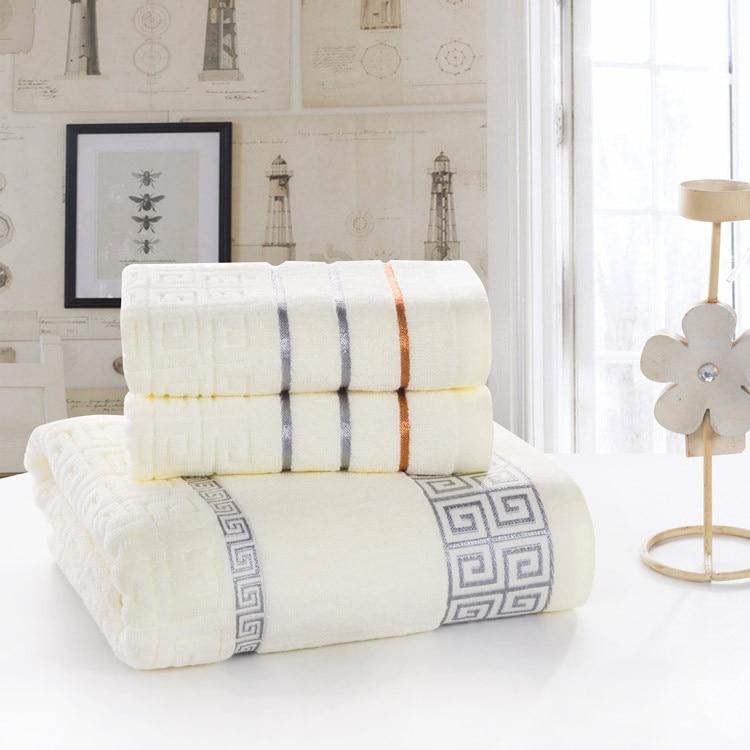 Luxury Soft Bath Towel Sets 3pcs 100 Cotton Bath Beach Face Towel Adults 34cm