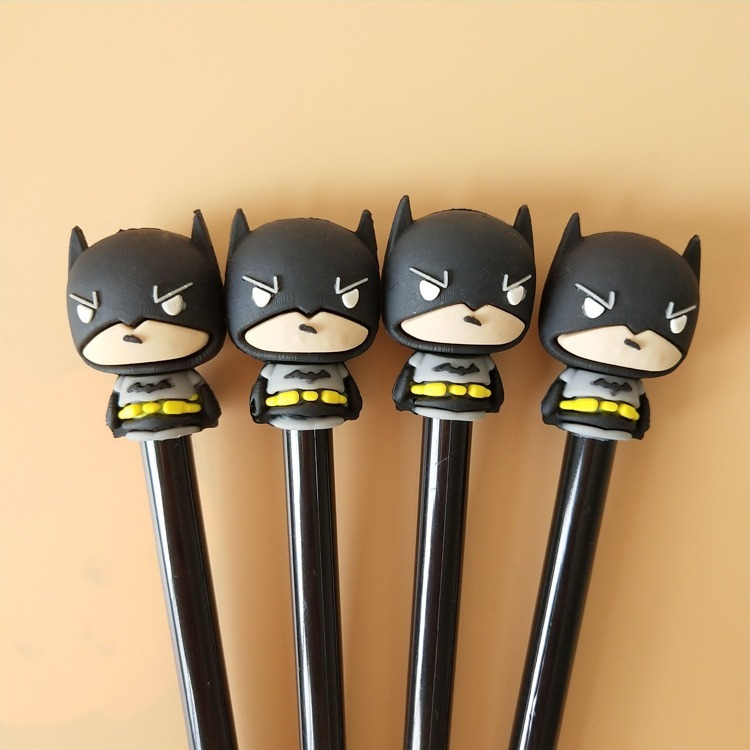 2pcs Lot Novelty Superhero Batman Gel Pen Creative Stationery Office Supplies School Chancery For Students In Pens From On