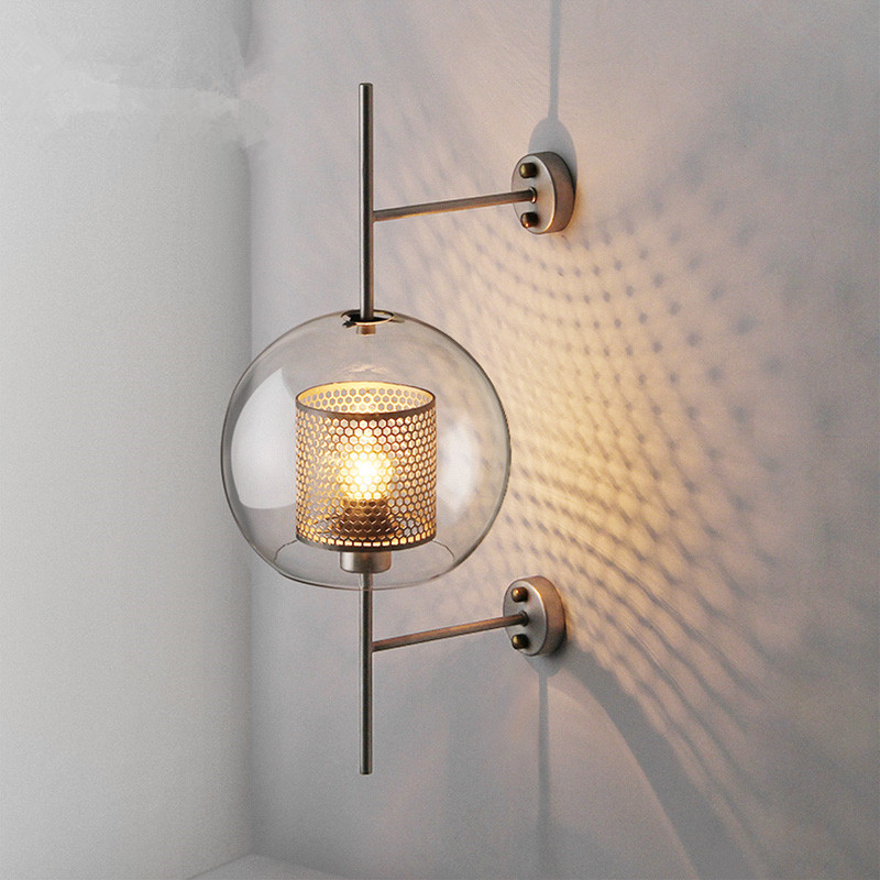 Image 2 - Industrial Style Retro Wall Light Vintage Creative Concise Glass Light Kitchen Restaurant Loft Led Wall Sconce Free Shipping-in LED Indoor Wall Lamps from Lights & Lighting