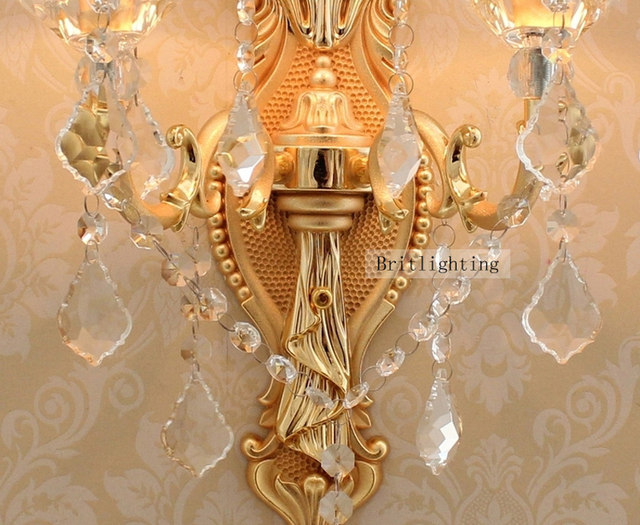Online Shop Contemporary Wall Light Crystal Wall Sconces Bedroom ...