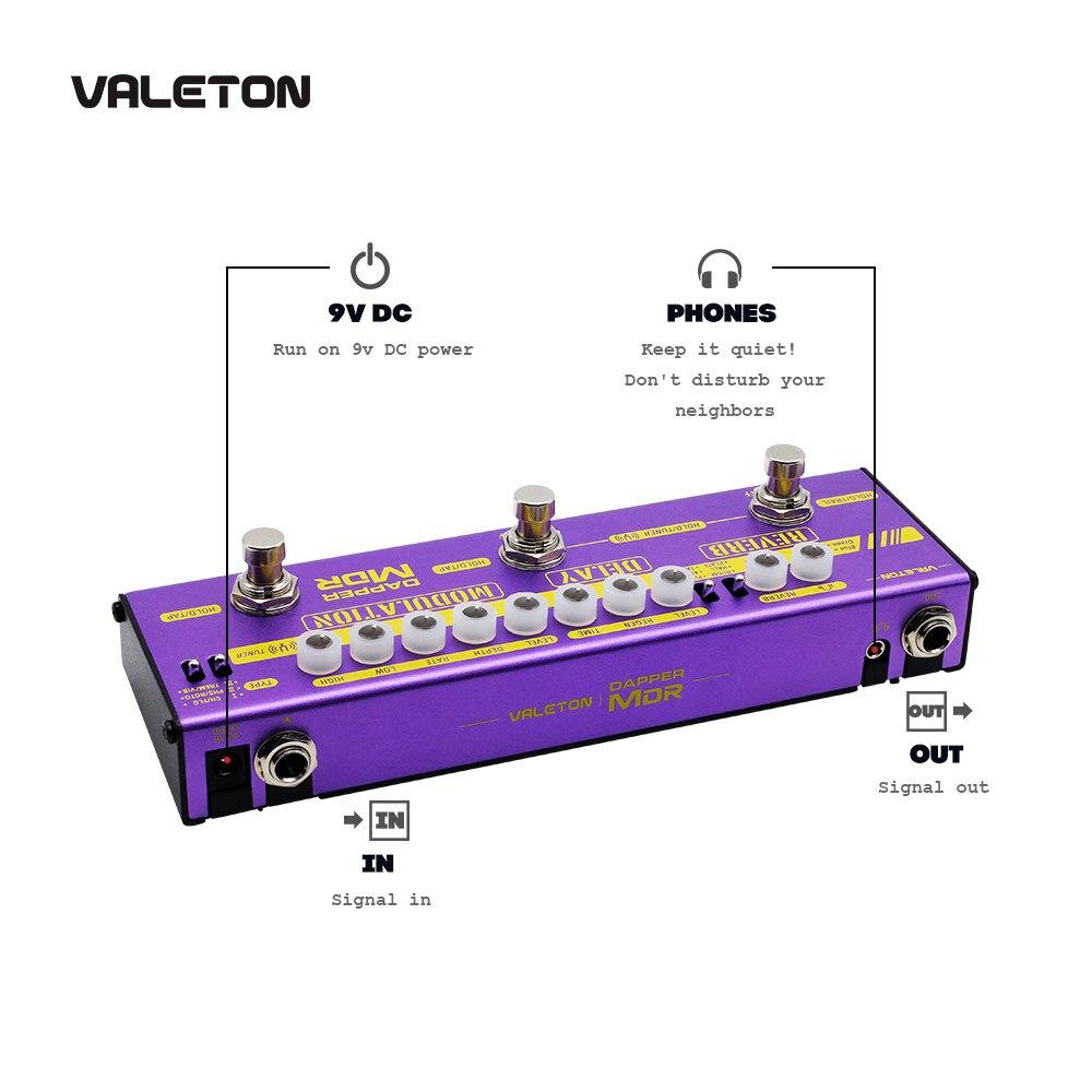 Image 3 - Valeton multi efeitos guitarra pedal dapper mdr de atraso reverb  chorus phaser vibrato tremolo flanger analógico digital fita  atrasoPeças e acessórios p/ guitarra