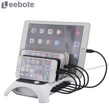 60 Вт 5 портов USB зарядное устройство 12А настольное зарядное устройство док-станция для зарядки телефона адаптер питания для iPhone Xiaomi samsung huawei