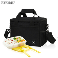 VN 2015 New Brand Folding Insulation Large Meal Package Lunch Cold Storage Take Away Shoulder Bags