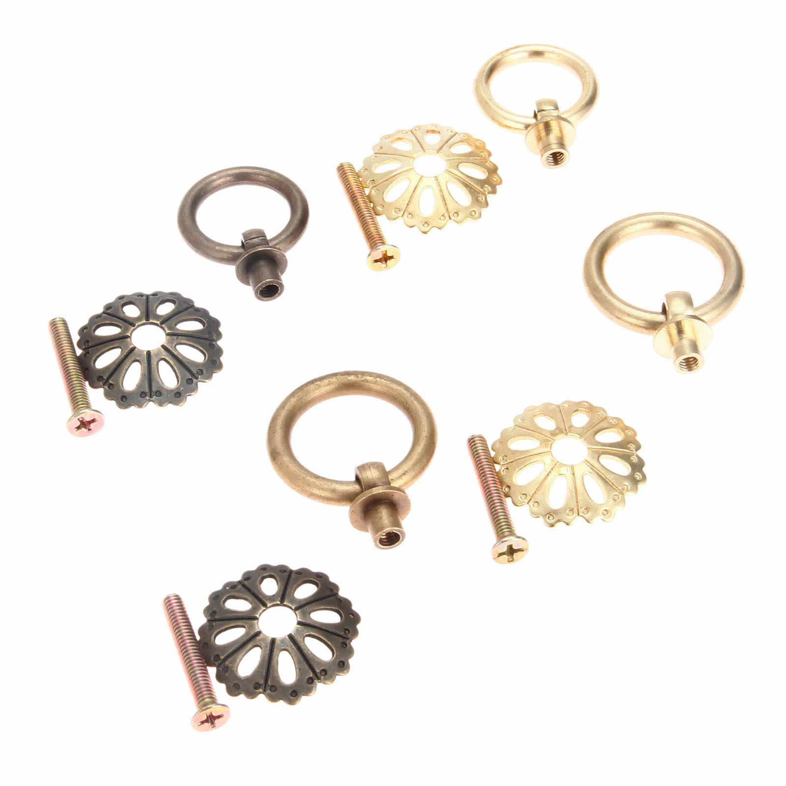 Dreld Brass Cabinet Door Furniture Handle Chinese Drop Cupboard Ring Drawer Pull Handle Knob For Wood Box Hardware 25mm 30mm Cabinet Pulls Aliexpress