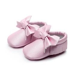 Конфеты Цвета лук Fringe детская обувь для девочек Мокасины для новорожденного для девочек бахрома на мягкой подошве нескользящая обувь