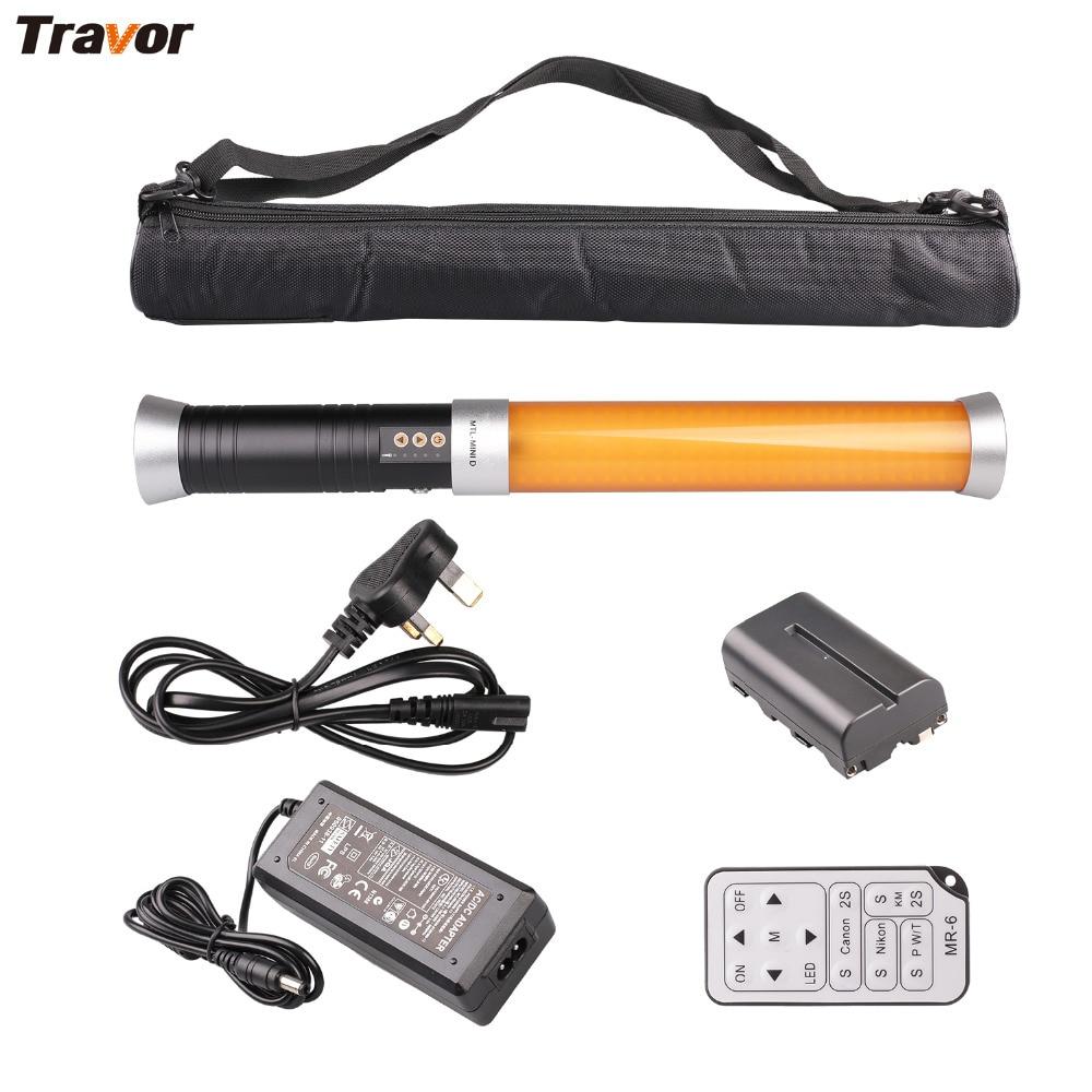 Travor Portable Handheld Tube LED Video Light Dimmable Bi-color 3200K/5600K Video Camera Magic Tube Light MTL-MINI D d color dc1002hd mini