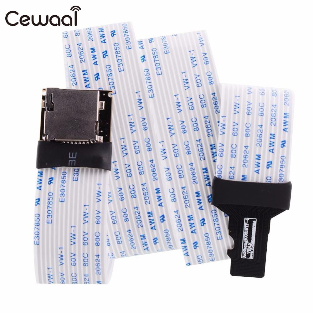 Cewaal 60CM TF to micro SD card Flex Extension cable Adapter reader car GPS DVD mobile ssk scrm 060 multi in one usb 2 0 card reader for sd ms micro sd tf white