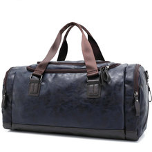 New Men Fashion Travel Bag PU Leather Portable Luggage Bag Casual Bag Vintage Handbag