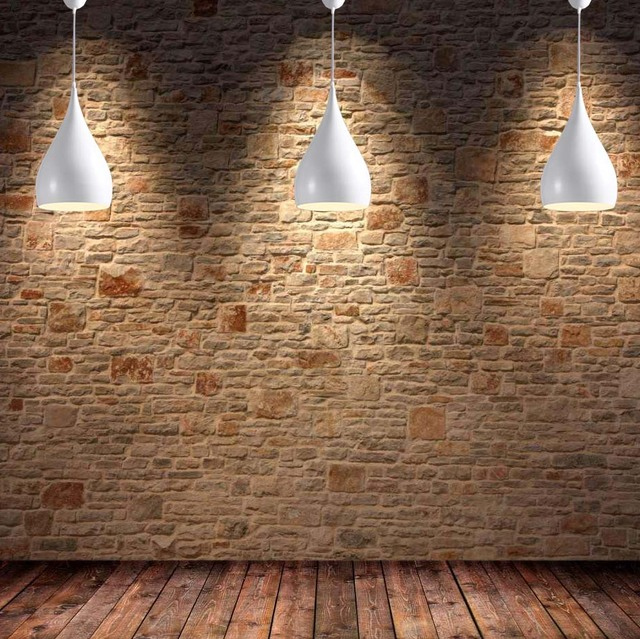 Pendant Light Contemporary Contracted Aluminum Droplight Dining-room Lamp Single Head Lamp Creative Droplight Use E27 Bulb