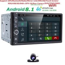 Android 8.1 universal Car Radio 7″ 2 din car radio  Car DVD Player GPS NAVIGATION WIFI Bluetooth Player RDS DVR DVBT SWC 2G+16G