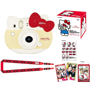 Image 2 - Fujifilm Instax Mini 8 Hello Kitty, ограниченная серия, фотопленка для мгновенной печати, камера + 10 листов котенка, пленки + наклейки + набор ремешков