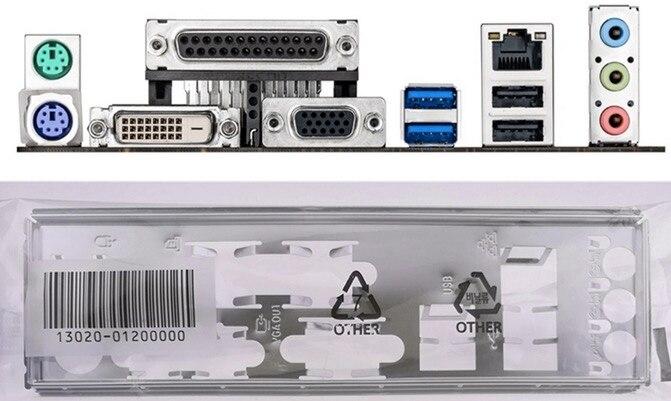 IO I//O Shield Back Plate BackPlate for GA Gigabyte GA-B85M-DS3H-A GA-B85M-HD3-A
