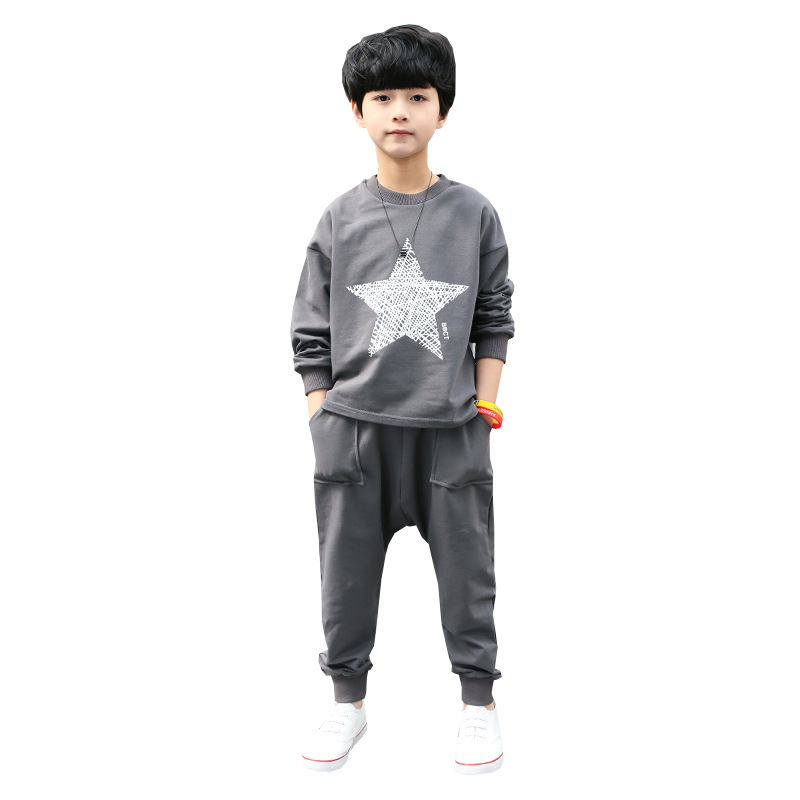 Boys Clothes Set For 4-13 Years 2018 Spring Boy Clothing Print Long Sleeve Active Shirt + Pant 2pcs Teenagers Kids Sports Suit sport suit for boy 5 6 7 8 9 10 11 12 13 14 15 years teenagers kids clothing set long sleeve print shirt pant 2pcs clothes