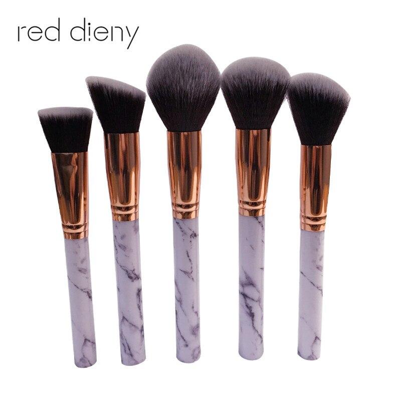 10 piezas de mármol Patten maquillaje cepillo de polvo cosmético de la Fundación de sombra de ojos labio hacer cepillos herramienta de belleza
