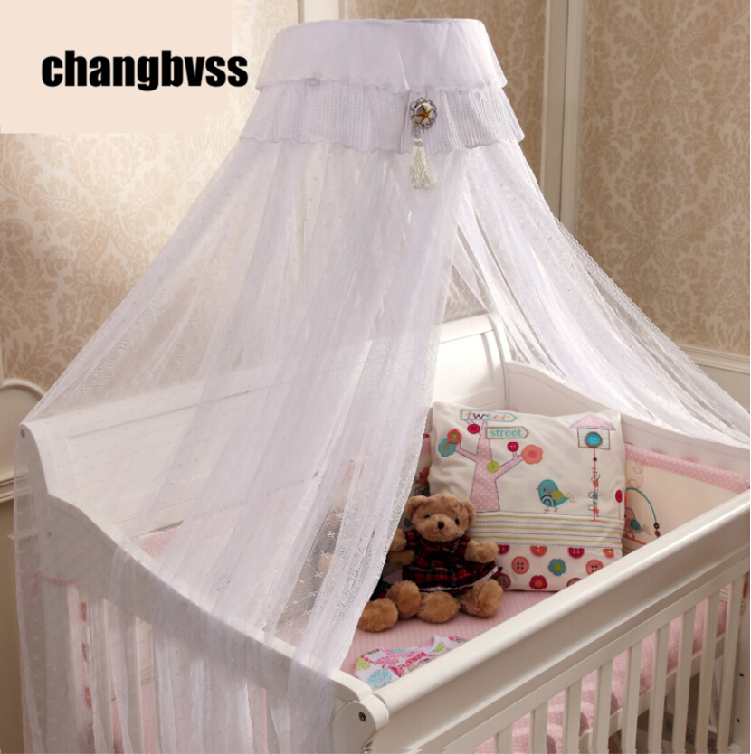 Beautiful Bed Canopy Baby Todder Crib,White Pink Yellow