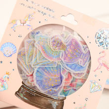 48pc/pack Dreamy Gilding Crystal Ball Decorative shanle Sticker DIY Scrapbooking photo Label Diary Album Sticker Escolar 9styles(China)