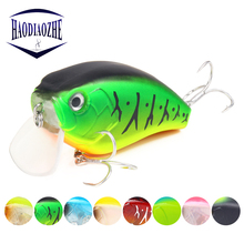Купить с кэшбэком Floating Deep Diving Crankbait Fishing Lures 6cm 17g 3D Lifelike Eyes Wobblers Peche Isca Artificial Crank Bait Fishing Tackle