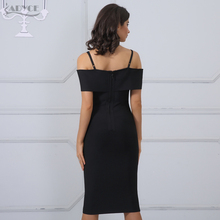 2018 New Women Summer Dress Bandage Apricot Black Red Sexy Deep V Neck Luxury Party Dress Celebrity Real Dresses