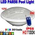 24 W RGB LED PAR56 Piscina Luz 12 V IP68 351led Iluminação Exterior luzes Lagoa Subaquática para fonte piscina frete grátis