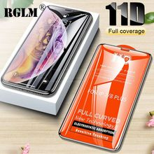 RGLM Full Cover 11D Protective Glass for iphone 6 6s 7 8 Plus Tempered on iPhone X XS MAX XR Screen Protector Curved Edge