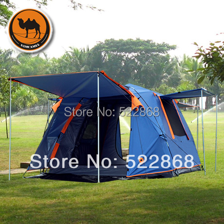 SamCame good quality double layer 3-4 people waterproof windproof camping tent outdoor gazebo luxury large indian singler layer 10persons outdoor camping tent with waterproof and anti wind traveling tent in good quality
