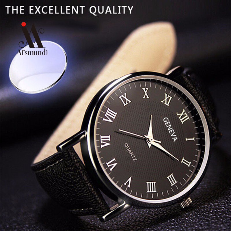 Fashion Faux Leather Mens Analog Quarts Watches Blue Ray Men Wrist Watch 2018 Mens Watches Top Brand Luxury Casual Watch classic watch fashion men s luxury quartz watches faux leather blue ray glass hodinky analog brand relogio feminino high quality