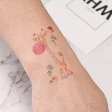 Temporary-Tattoo-Sticker Birds Fake-Tattoo Body-Art Kids Children Cute New Cartoon Squirrel