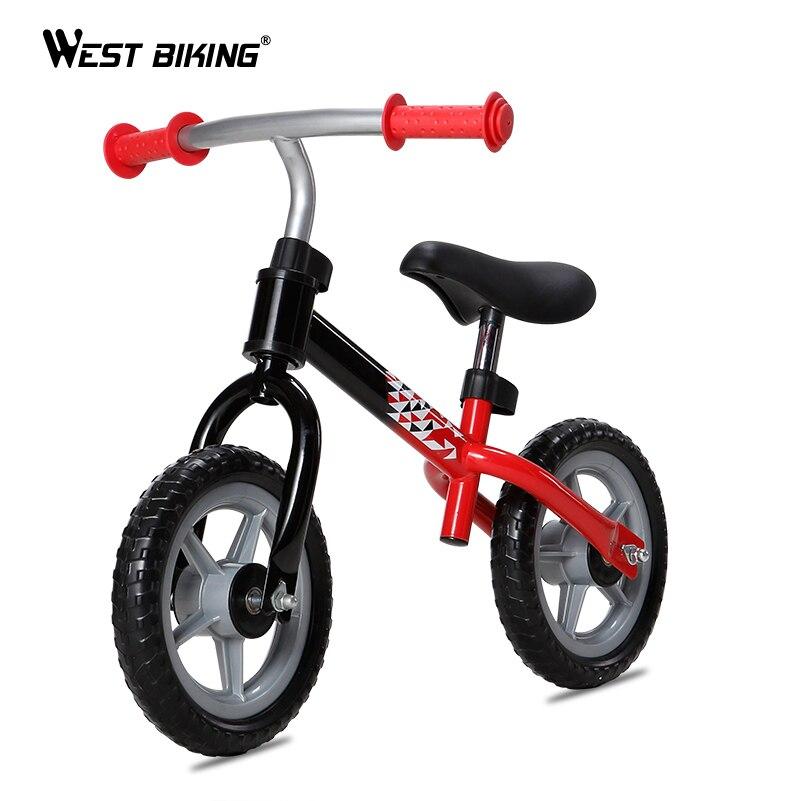 WEST vélo bébé Balance Walker 2-4 ans enfants Scooter deux roues Balance vélo pas de pédale enfants vélo Portable bébé marche