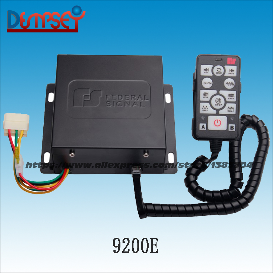 Dempsey DC12V 200W Siren,Emergency car siren alarm amplifiers with remote for police,ambulance,fire truck,without speaker(9200E) police siren esv6203 electrical car siren high power 200w 12v alarm siren host only without speaker 9 tone controller host alarm