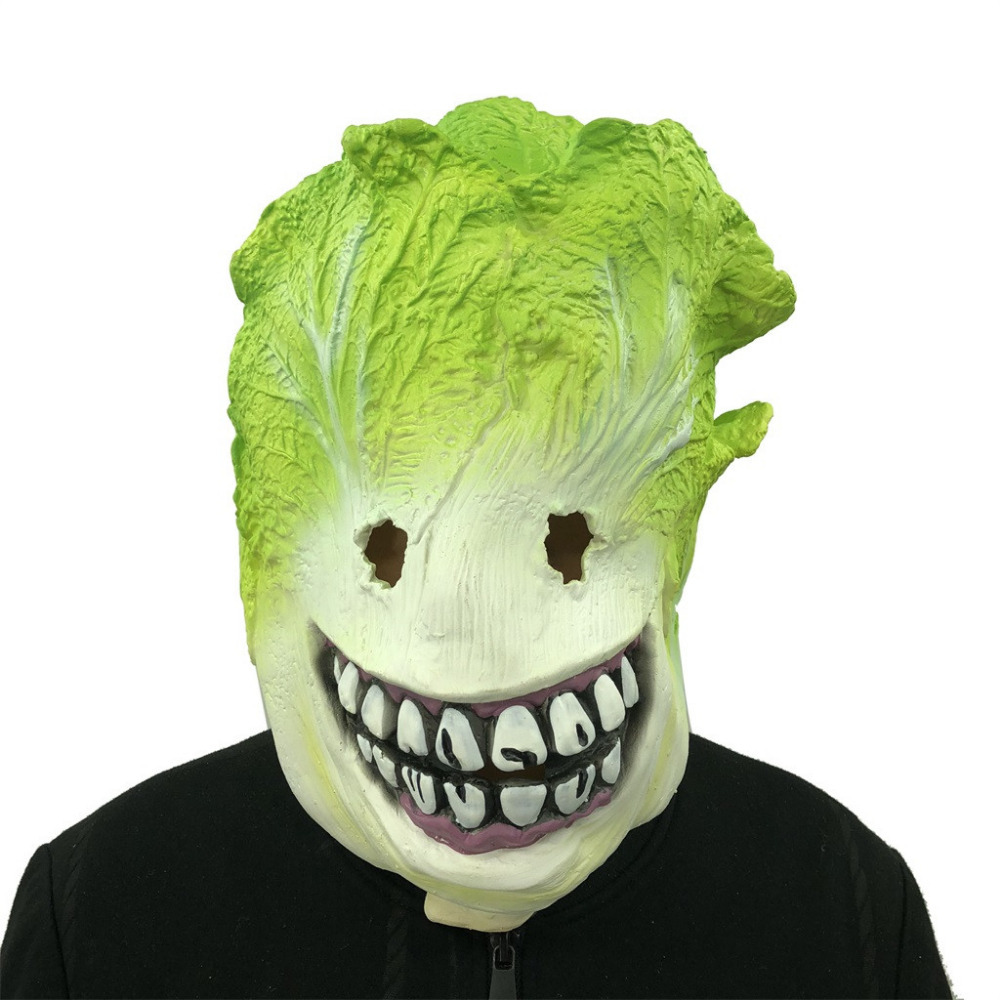 Funny Whole Mask Haha Smile Cosplay Cabbage Monster Melting Face Latex Costume Collectible Prop Scary Mask Toys & Hobbies Gags & Practical Jokes
