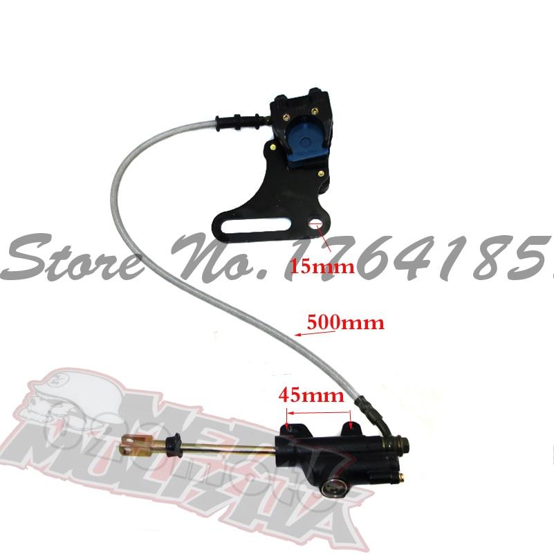 Hydraulic Rear Brake System Assembly KAYO BSE XMOTOR Dirt Bike Pit Bike Master Cylinder Caliper hose 500mm Long