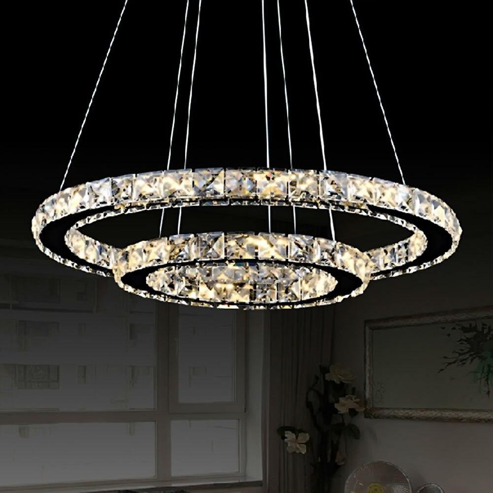 Ring Modern LED Crystal Lamp Pendant Light 30/40/50 CM Living Room Lights Restaurant Lamp LED Crystal Pendant Light Lustre