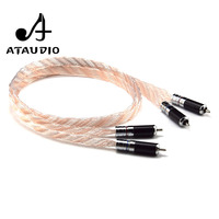 ATAUDIO One pair Hifi RCA Cable High Performance Silver and Copper 2RCA Male to Male to Cable