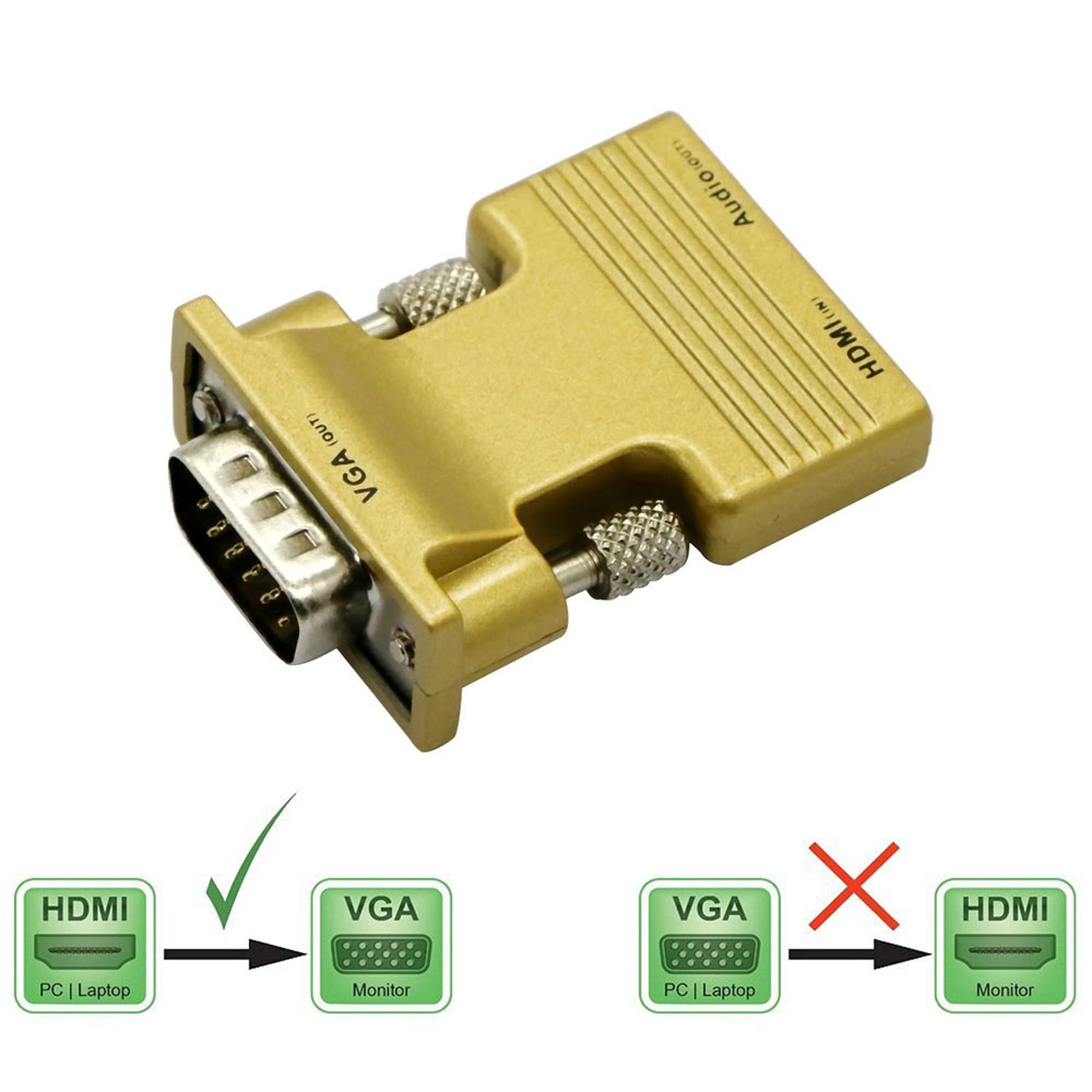 HDMI input to VGA Output Converter+Audio Adapter 1080P Signal For HDMI Computer PC Video to VGA Projector Monitor Connector