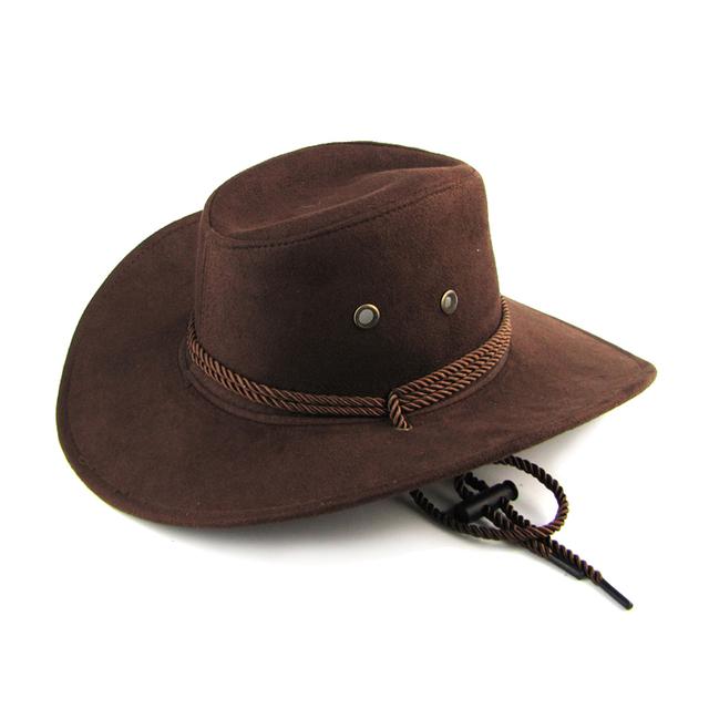 Women 3 color Large brim hat cowboy hat for man millinery outdoor hat sunbonnet casual fashion