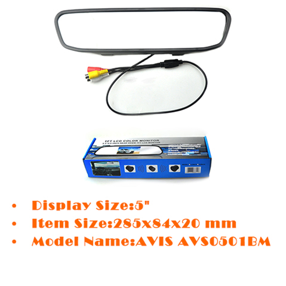 High resolution 5 inch TFT LCD car parking sensor assistance monitors digital car monitor for rear view camera FOR SALE TM-530 image
