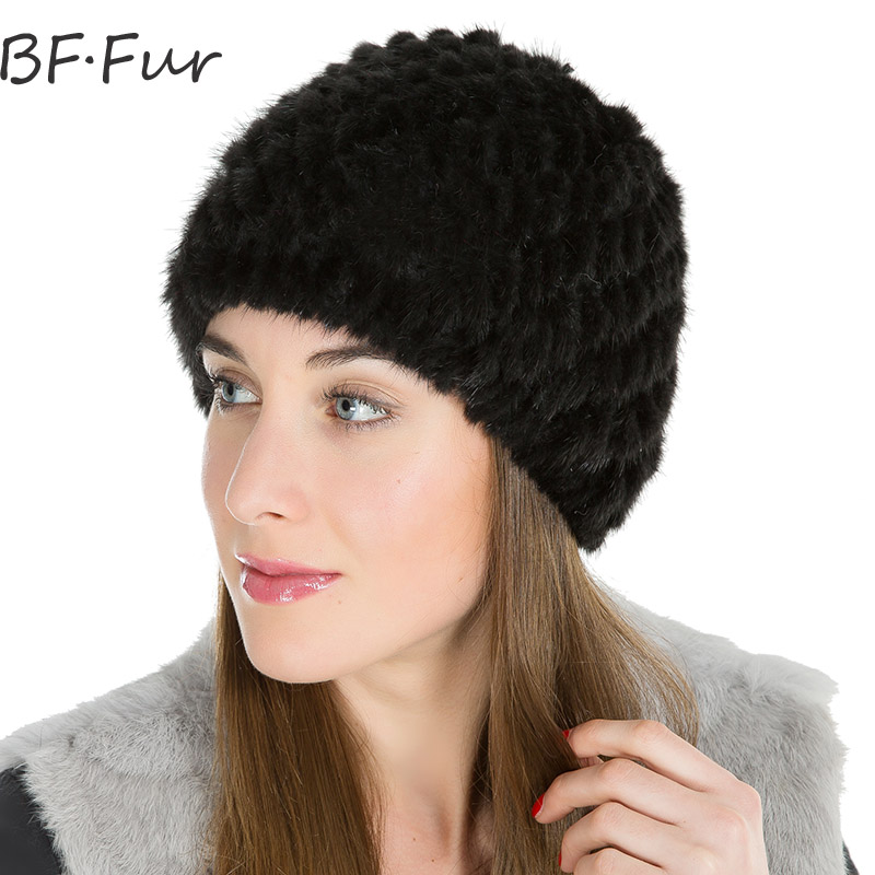 Russian Women Winter Warm Hat For Girls Real Mink Fur Animal Natural Color Female Cap Knitted Cotton Warm Beanies Ladies Bonnet russian real mink fur hat for female animal fur winter warm beanies fashion solid color cap natural color bonnet girls hats