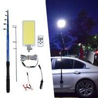 Mejor 360 luces LED COB de camping linterna camping carpa glamping telescópica caña de pescar para viajar