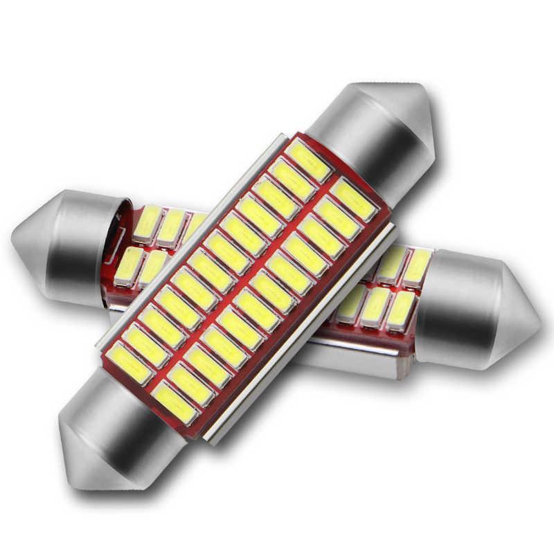 High Quality 31mm 36mm 39mm 41mm C5W C10W Super Bright 4014 SMD Car LED Festoon Light Canbus Error Free Interior Doom Lamp Bulb