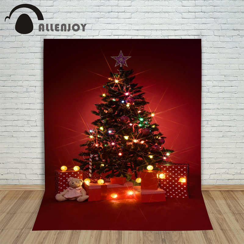 Christmas tree photography background xmas winter red xmas new year backdrop vinyl year of the rooster children christmas photographic background snow snow in winter new year photo vinyl cloth year of the rooster