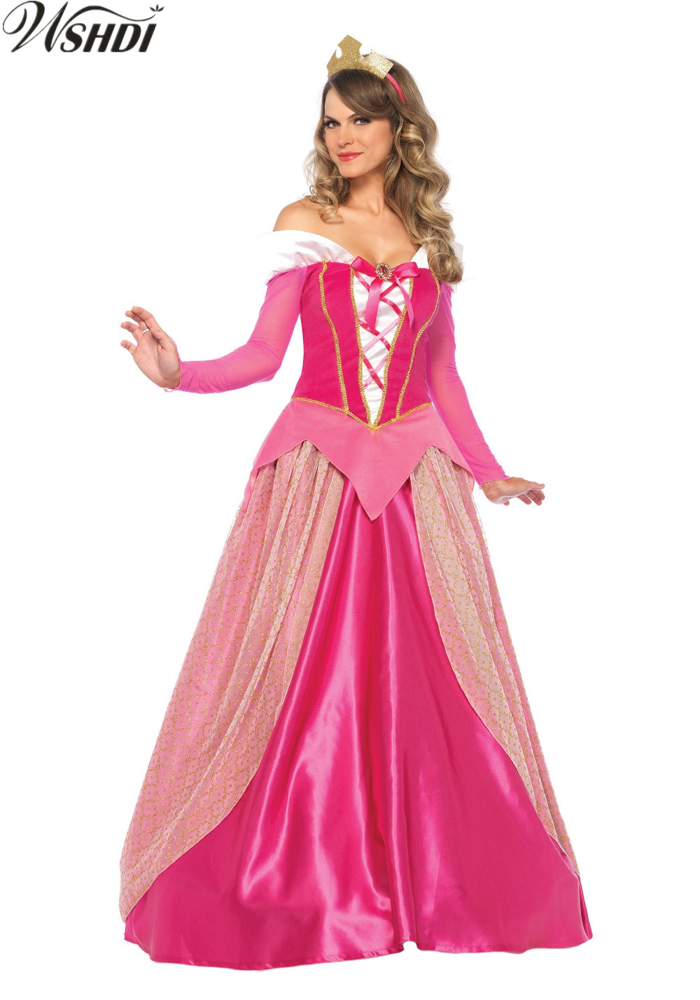 Girls Red Queen Princess Ball Gown Fairytale Medieval Deluxe Christmas Costume