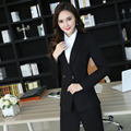 New Professional Formal Uniform Design Autumn Winter Female Pantsuits For Business Women Jackets And Pants Ladies Trousers Sets