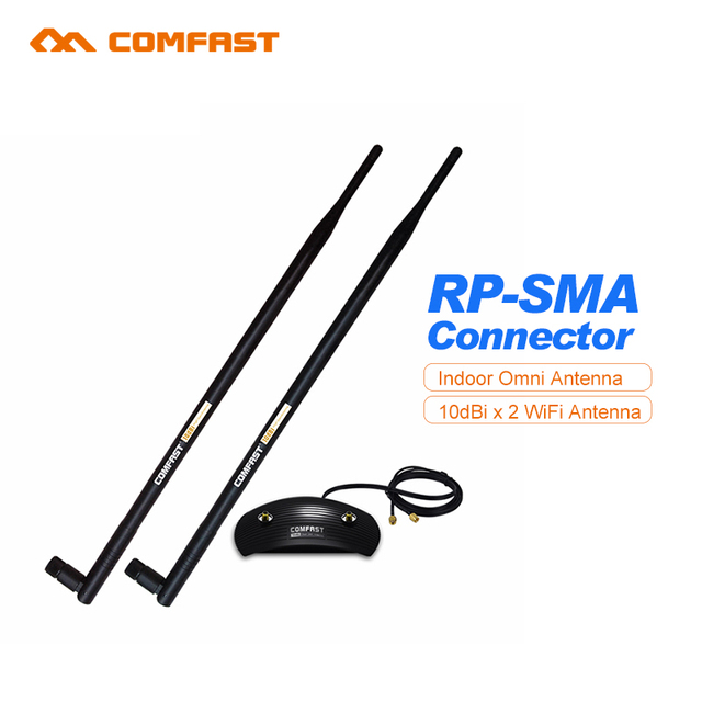 Comfast CF-ANT2410DA 2.4 GHz 802.11b/g 2.4G 10DBI indoor SEM FIO WIFI ANTENA BOOSTER WLAN RP-SMA Para Router Modem PCI