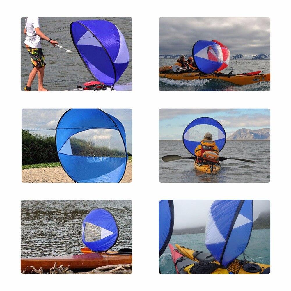 Kayak boat wind sail 4
