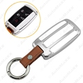 Aluminium Alloy Car Key Cover Case Shell Bumper With Keychain Leather For Land Range Rover Silver #J-3139